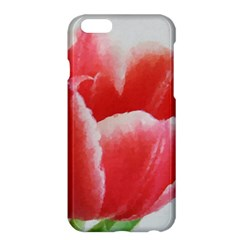 Tulip red watercolor painting Apple iPhone 6 Plus/6S Plus Hardshell Case