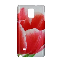 Tulip red watercolor painting Samsung Galaxy Note 4 Hardshell Case