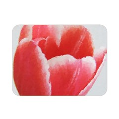 Tulip red watercolor painting Double Sided Flano Blanket (Mini)