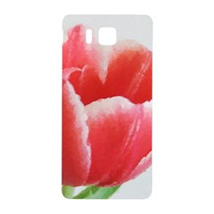 Tulip red watercolor painting Samsung Galaxy Alpha Hardshell Back Case