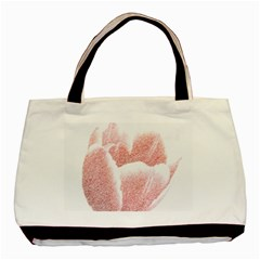 Tulip red pencil drawing art Basic Tote Bag (Two Sides)