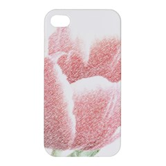 Tulip red pencil drawing art Apple iPhone 4/4S Hardshell Case