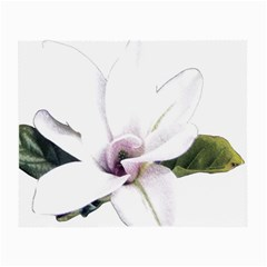 White Magnolia Pencil Drawing Art Small Glasses Cloth (2 Side)
