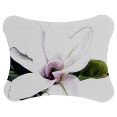 White Magnolia pencil drawing art Jigsaw Puzzle Photo Stand (Bow)
