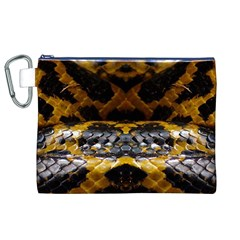 Textures Snake Skin Patterns Canvas Cosmetic Bag (XL)