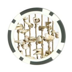 Hanging Human Teeth Dentist Funny Dream Catcher Dental Poker Chip Card Guards (10 pack)