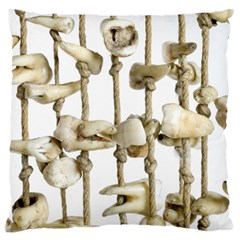 Hanging Human Teeth Dentist Funny Dream Catcher Dental Large Cushion Case (Two Sides)
