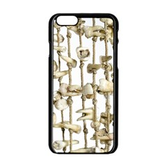 Hanging Human Teeth Dentist Funny Dream Catcher Dental Apple iPhone 6/6S Black Enamel Case