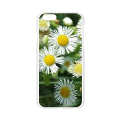 White summer flowers watercolor painting art Apple Seamless iPhone 6/6S Case (Transparent)