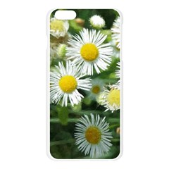 White summer flowers watercolor painting art Apple Seamless iPhone 6 Plus/6S Plus Case (Transparent)