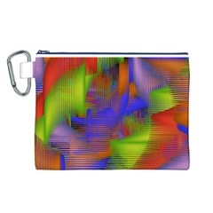 Texture Pattern Programming Processing Canvas Cosmetic Bag (L)