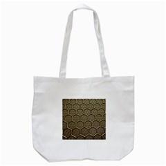 Texture Hexagon Pattern Tote Bag (White)