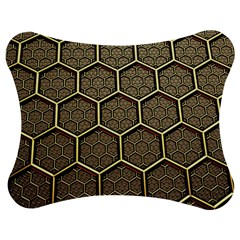 Texture Hexagon Pattern Jigsaw Puzzle Photo Stand (Bow)