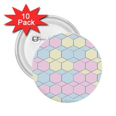 Colorful Honeycomb   Diamond Pattern 2 25  Buttons (10 Pack)