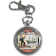 Vintage Advertisement British Navy Marine Typography Key Chain Watches