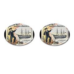 Vintage Advertisement British Navy Marine Typography Cufflinks (Oval)