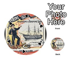 Vintage Advertisement British Navy Marine Typography Playing Cards 54 (Round)