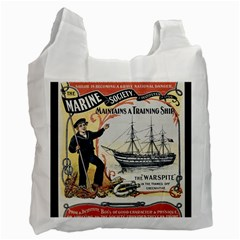 Vintage Advertisement British Navy Marine Typography Recycle Bag (Two Side)