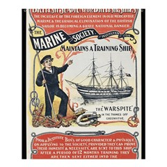 Vintage Advertisement British Navy Marine Typography Shower Curtain 60  x 72  (Medium)