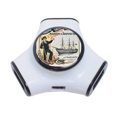 Vintage Advertisement British Navy Marine Typography 3-Port USB Hub