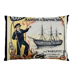 Vintage Advertisement British Navy Marine Typography Pillow Case (Two Sides)