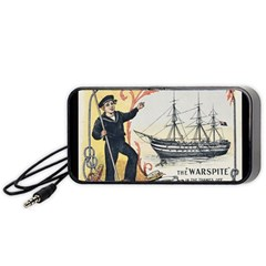 Vintage Advertisement British Navy Marine Typography Portable Speaker (Black)