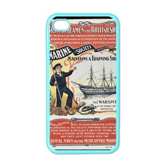 Vintage Advertisement British Navy Marine Typography Apple iPhone 4 Case (Color)