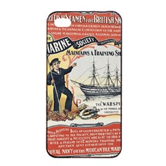 Vintage Advertisement British Navy Marine Typography Apple iPhone 4/4s Seamless Case (Black)
