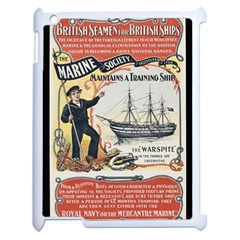 Vintage Advertisement British Navy Marine Typography Apple iPad 2 Case (White)