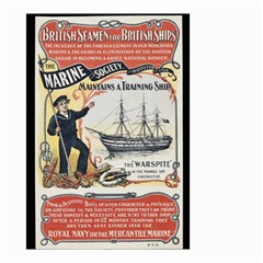 Vintage Advertisement British Navy Marine Typography Small Garden Flag (Two Sides)