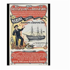 Vintage Advertisement British Navy Marine Typography Large Garden Flag (Two Sides)