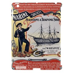 Vintage Advertisement British Navy Marine Typography Apple iPad 3/4 Hardshell Case (Compatible with Smart Cover)