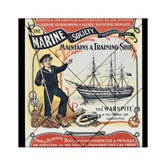 Vintage Advertisement British Navy Marine Typography Acrylic Tangram Puzzle (6  x 6 )