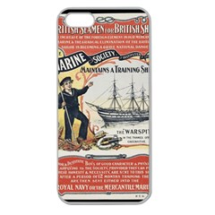 Vintage Advertisement British Navy Marine Typography Apple Seamless iPhone 5 Case (Clear)