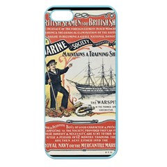 Vintage Advertisement British Navy Marine Typography Apple Seamless iPhone 5 Case (Color)