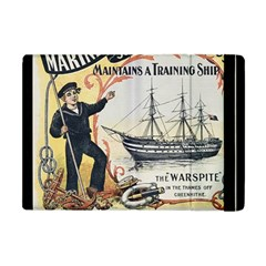 Vintage Advertisement British Navy Marine Typography Apple iPad Mini Flip Case