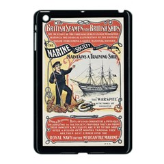 Vintage Advertisement British Navy Marine Typography Apple iPad Mini Case (Black)