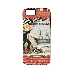 Vintage Advertisement British Navy Marine Typography Apple iPhone 5 Classic Hardshell Case (PC+Silicone)