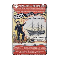 Vintage Advertisement British Navy Marine Typography Apple iPad Mini Hardshell Case (Compatible with Smart Cover)