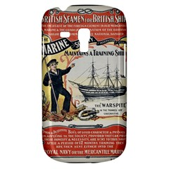 Vintage Advertisement British Navy Marine Typography Samsung Galaxy S3 MINI I8190 Hardshell Case