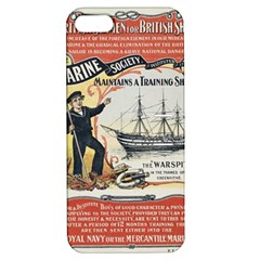 Vintage Advertisement British Navy Marine Typography Apple iPhone 5 Hardshell Case with Stand