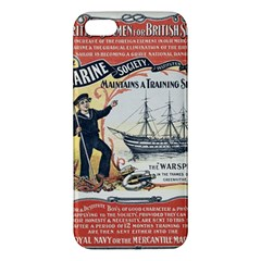 Vintage Advertisement British Navy Marine Typography Apple iPhone 5 Premium Hardshell Case
