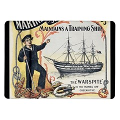 Vintage Advertisement British Navy Marine Typography Samsung Galaxy Tab 10.1  P7500 Flip Case