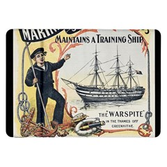 Vintage Advertisement British Navy Marine Typography Samsung Galaxy Tab 8.9  P7300 Flip Case