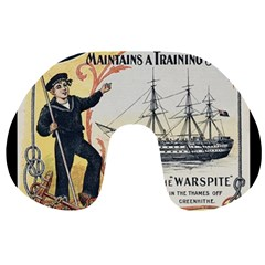 Vintage Advertisement British Navy Marine Typography Travel Neck Pillows
