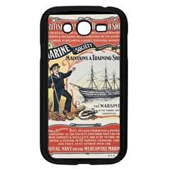 Vintage Advertisement British Navy Marine Typography Samsung Galaxy Grand DUOS I9082 Case (Black)