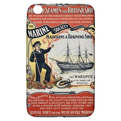 Vintage Advertisement British Navy Marine Typography Samsung Galaxy Tab 3 (8 ) T3100 Hardshell Case