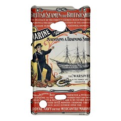 Vintage Advertisement British Navy Marine Typography Nokia Lumia 720