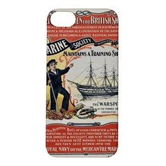Vintage Advertisement British Navy Marine Typography Apple iPhone 5S/ SE Hardshell Case