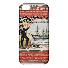 Vintage Advertisement British Navy Marine Typography Apple iPhone 5C Hardshell Case